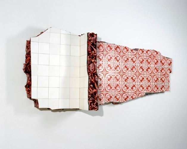 Escultura tridimensional com azulejos